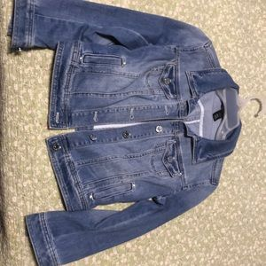 White House & black market  jean jacket, size 0.